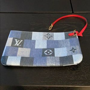 NWT Louis Vuitton Limited Edition Denim Pochette